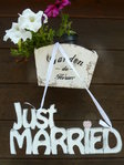 Just MARRIED Hochzeitdeko Shabby