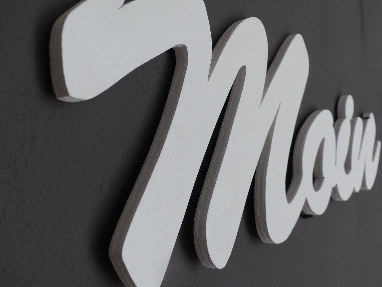 Moin Moin Schriftzug Holz - KreativWerkstatt Mittenaar